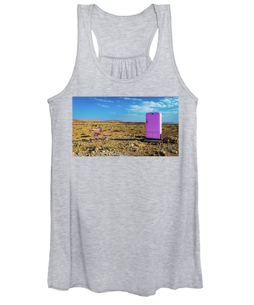 Refreshments Pit Stop In The Middle Of Nowhere Women's Tank Top