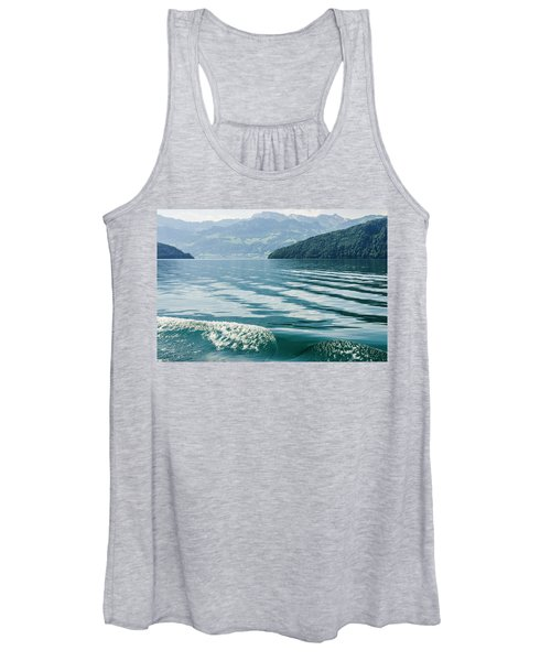 Ripples On Lake Lucerne Women's Tank Top