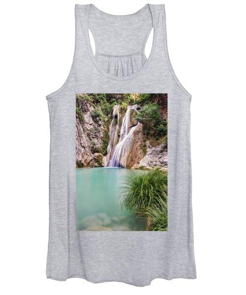 River Neda Waterfalls Women's Tank Top