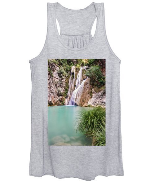 River Neda Waterfalls Women's Tank Top