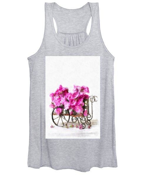 Rose Cart  Women's Tank Top