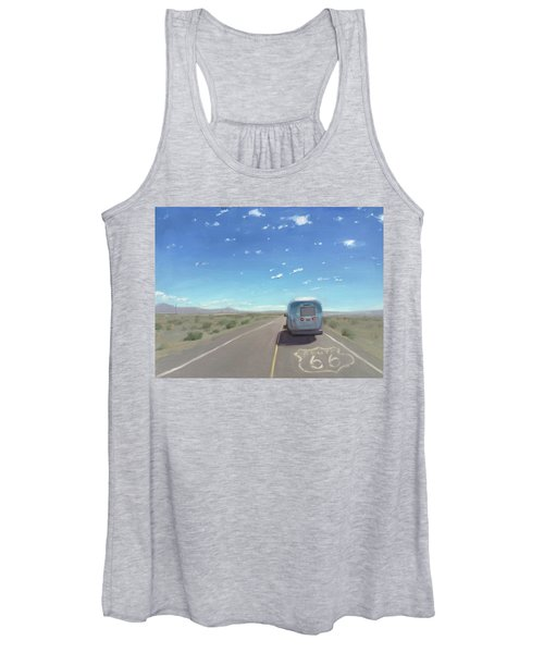 Route 66, Somewhere In California Women's Tank Top