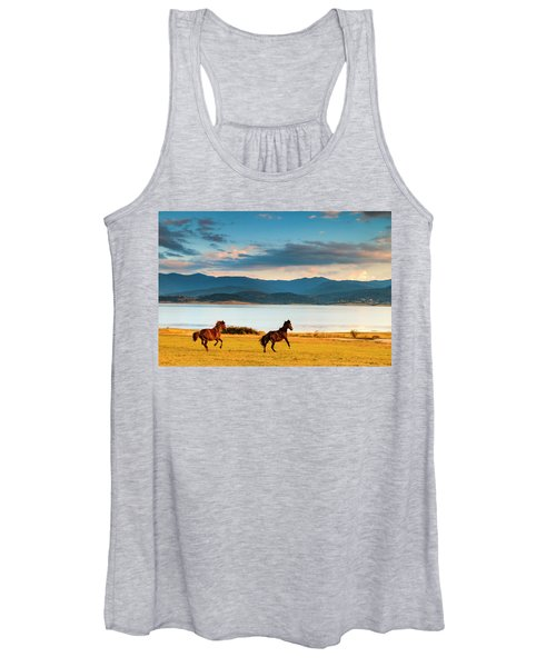 Running Horses Women's Tank Top
