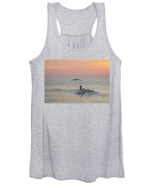 Seagull And A Surfer Women's Tank Top