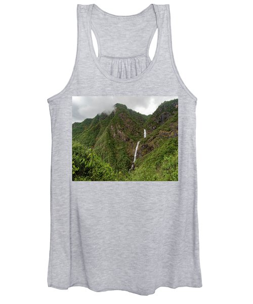 Shenlong Waterfall 8x10 Horizontal Women's Tank Top
