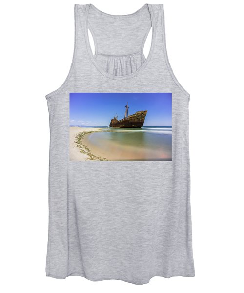 Shipwreck Dimitros Near Gythio, Greece Women's Tank Top