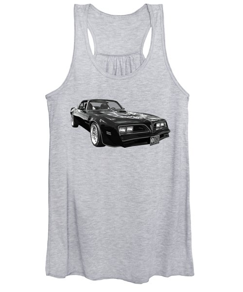 Smokey And The Bandit Trans Am In Mono Women's Tank Top