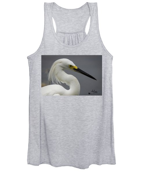 Snow Egret Portrait Women's Tank Top