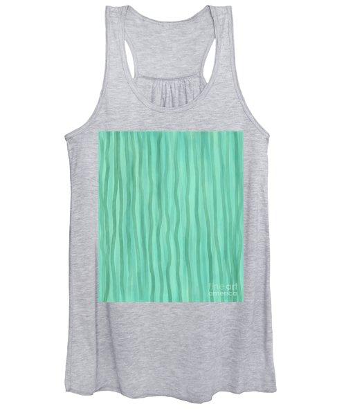 Soft Green Lines Women's Tank Top