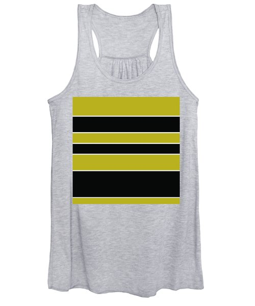 Stacked - Gold, Black And White Women's Tank Top