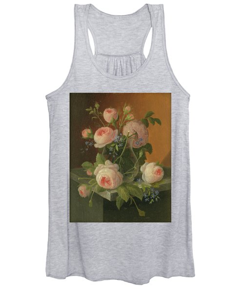 Still Life With Roses, Circa 1860 Women's Tank Top