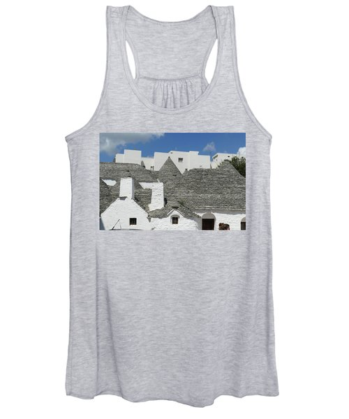 Stone Coned Rooves Of Trulli Houses Women's Tank Top