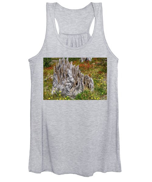 Stumps Of Trees Shattered In The 1980 Eruption Women's Tank Top