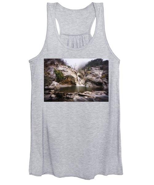 Suchurum Waterfall, Karlovo, Bulgaria Women's Tank Top