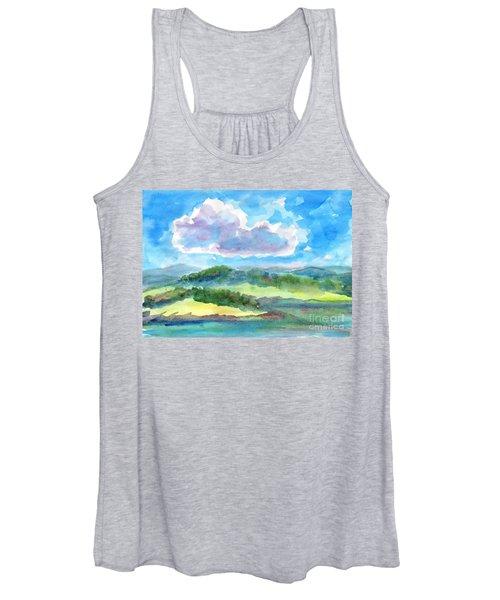 Summer Cloud In The Azure Sky Women's Tank Top