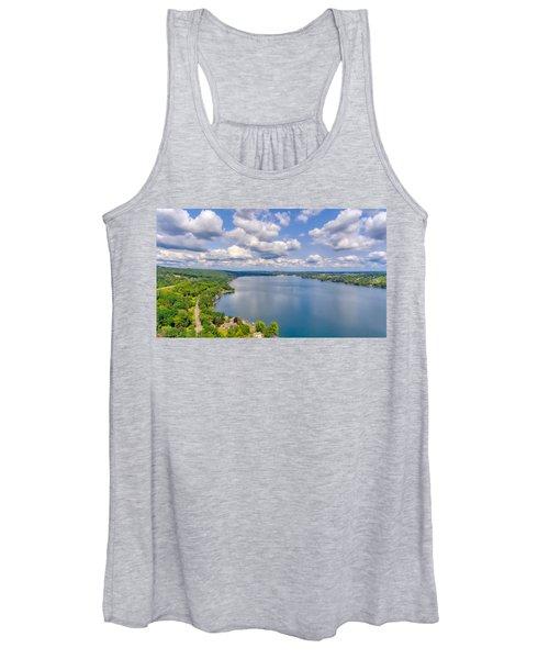 Summer Clouds On Keuka Lake Women's Tank Top