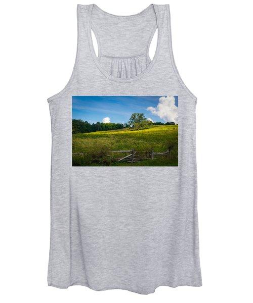Blue Ridge Parkway - Summer Fields Of Yellow - Lone Tree Women's Tank Top