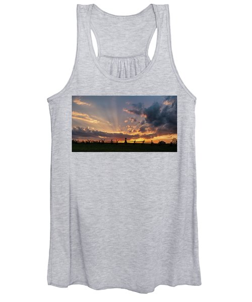 Sunrays At Sunset Women's Tank Top