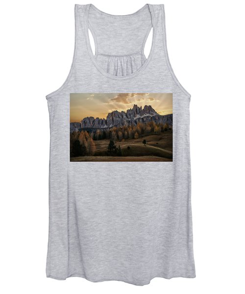 Sunrise In The Dolomites Women's Tank Top
