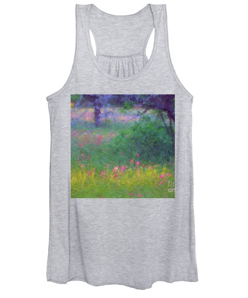 Sunset In Flower Meadow Women's Tank Top