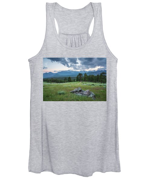 Sunset In Rocky Mountain National Park  Women's Tank Top