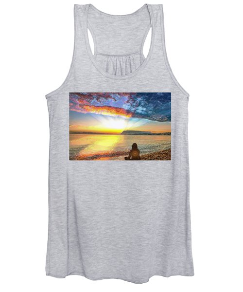 Sunset Meditation Women's Tank Top