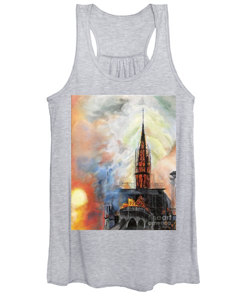Sunset On Notre Dame Women's Tank Top