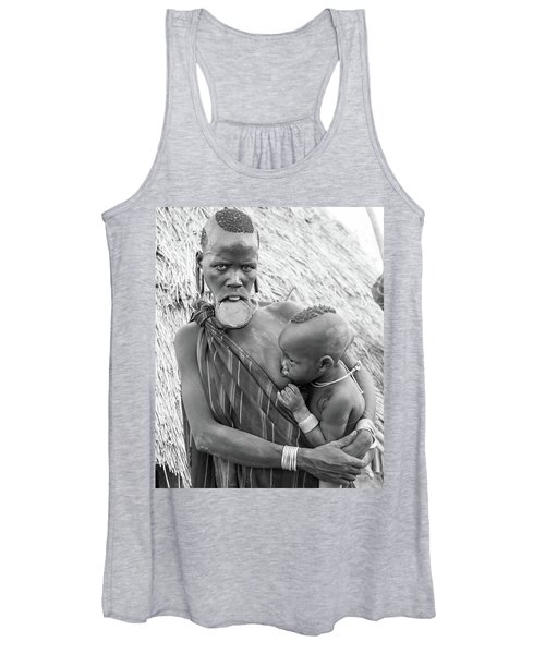 Mursi Mother And Child Women's Tank Top
