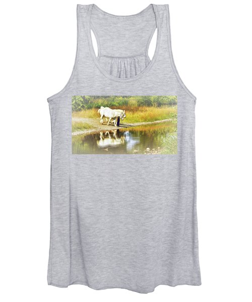 Leading The Horses To Water Women's Tank Top