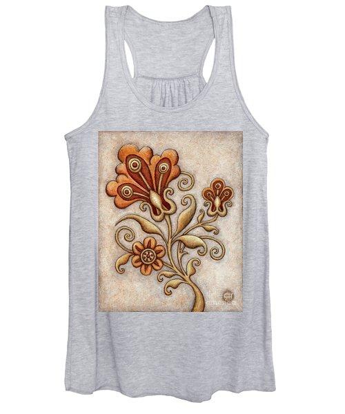 Tapestry Flower 3 Women's Tank Top