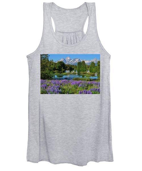 Tetons And Lupines Women's Tank Top