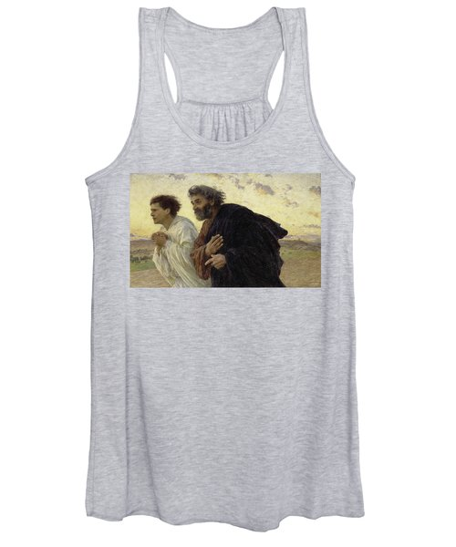 The Disciples Peter And John Running To The Sepulchre On The Morning Of The Resurrection, 1898 Women's Tank Top