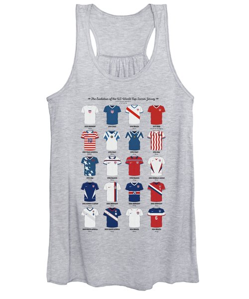 The Evolution Of The Us World Cup Soccer Jersey Women's Tank Top