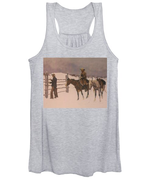 The Fall Of The Cowboy Women's Tank Top