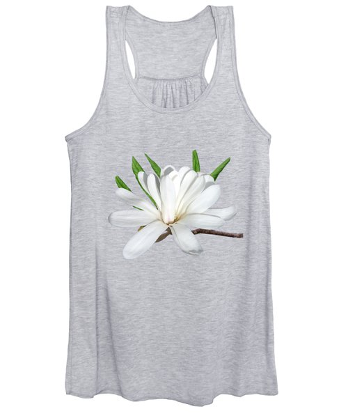 The Flower Is The Star Magnolia Women's Tank Top