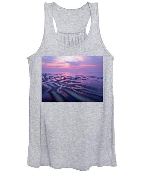 Tidal Flats Sunset Women's Tank Top