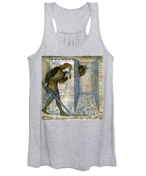 Tile Design - Theseus And The Minotaur In The Labyrinth Women's Tank Top