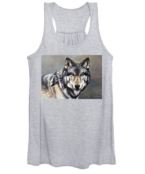Timber Wolf By Alan M Hunt Women's Tank Top