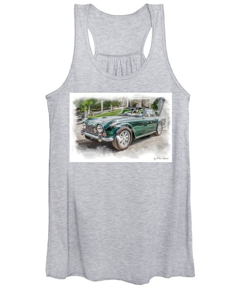 Triumph Tr5 At Roman Gardens Women's Tank Top