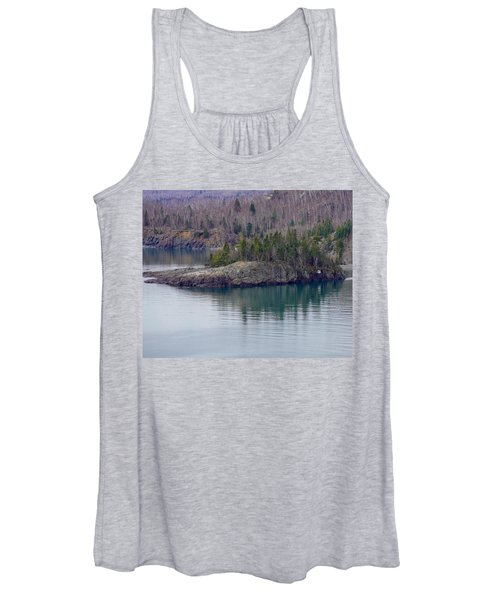 Tranquility In Silver Bay Women's Tank Top