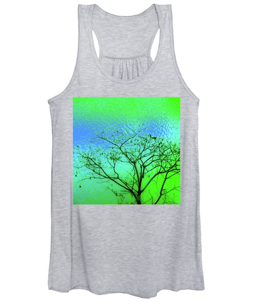 Tree And Water 3 Women's Tank Top
