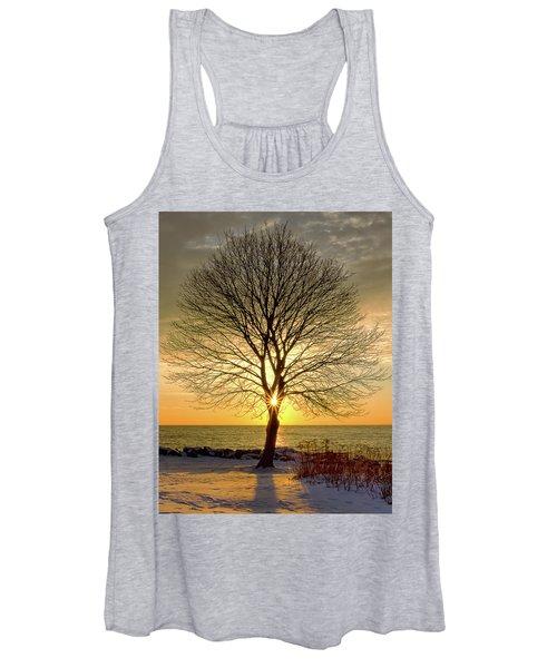 Tree Framed Sunrise New Hampshire Women's Tank Top