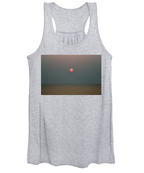 Twilight Sunset At Sea Women's Tank Top