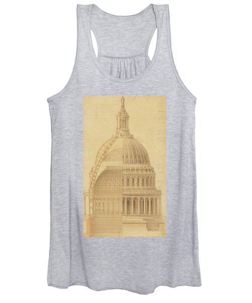United States Capitol, Section Of Dome, 1855 Women's Tank Top