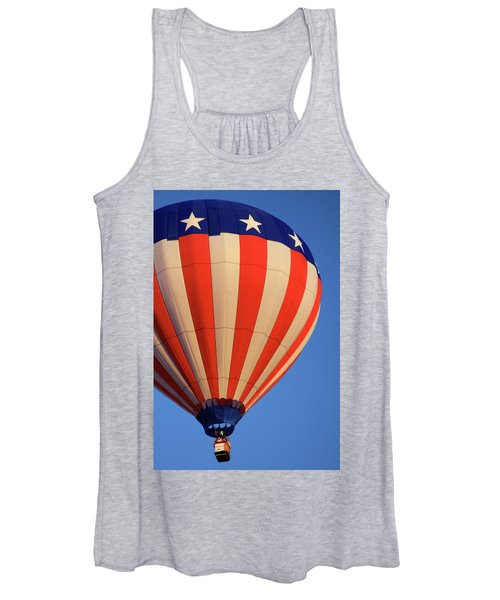 Usa Patriotic Hot Air Balloon Women's Tank Top