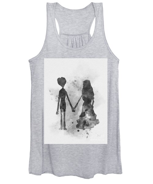 Victor And Emily Black And White Women's Tank Top