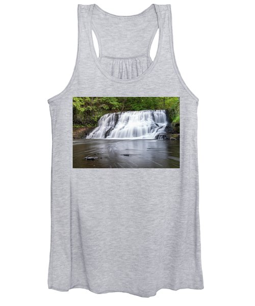 Wadsworth Falls In Middletown, Connecticut U.s.a.  Women's Tank Top