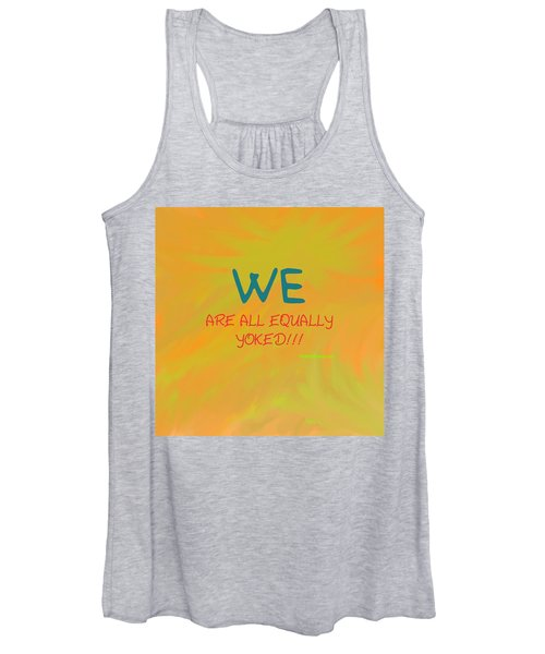 We Are All Equally Yoked Women's Tank Top