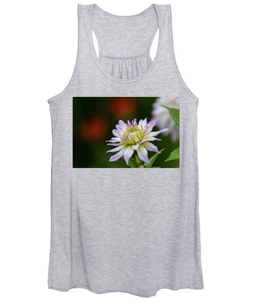 Wet Petals Dahlia Women's Tank Top