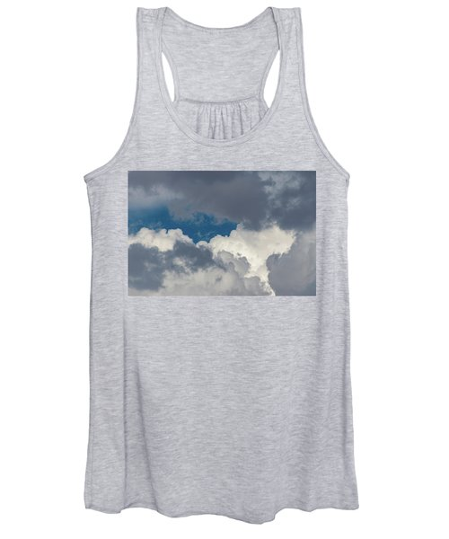 White And Gray Clouds Women's Tank Top